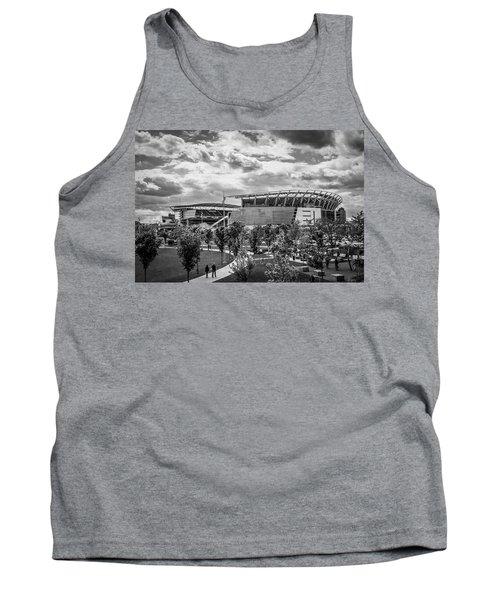 Paul Brown Stadium Black And White Tank Top by Scott Meyer
