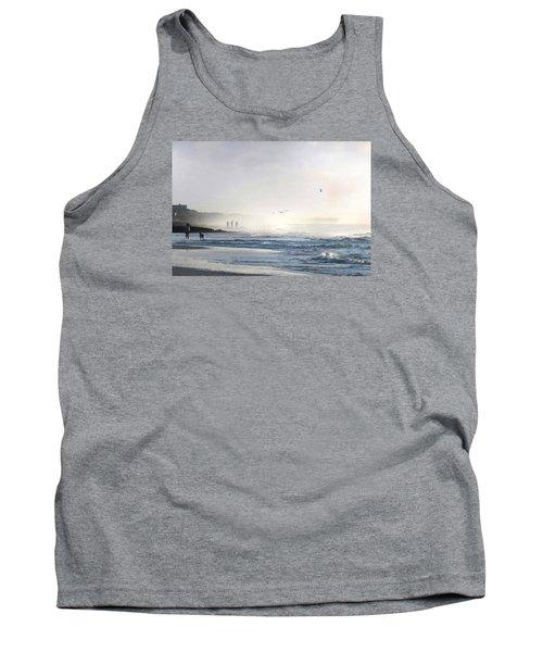 Tank Top featuring the digital art Pawleys Island Morning Mist by Deborah Smith