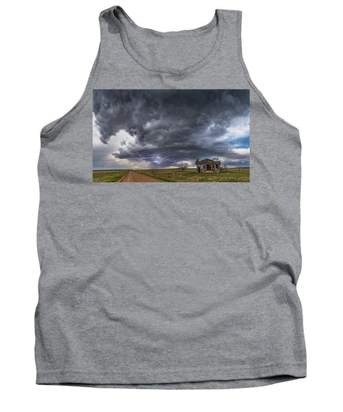 Tank Top featuring the photograph Pawnee School Storm by Darren White