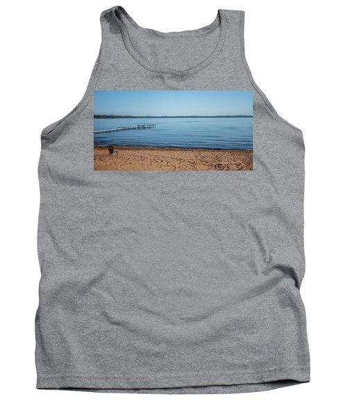 Tank Top featuring the photograph Grand Traverse Bay Beach-michigan  by Joann Copeland-Paul
