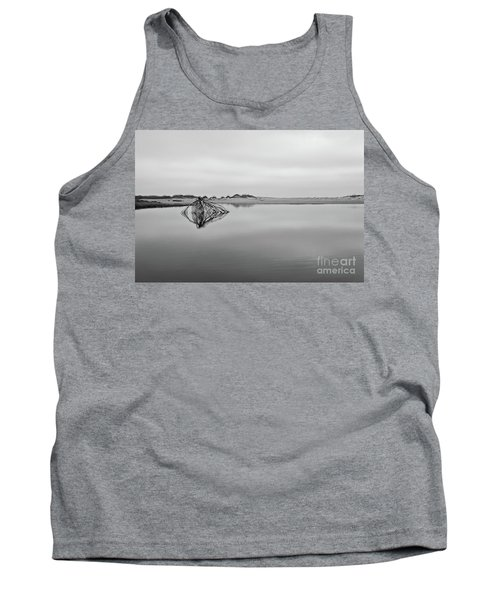 Peaceful Tidepool On The Outer Banks Bw Tank Top by Dan Carmichael