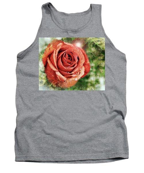 Peach Rose Tank Top by Sennie Pierson