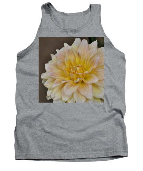 Peaches And Cream Dahlia Tank Top