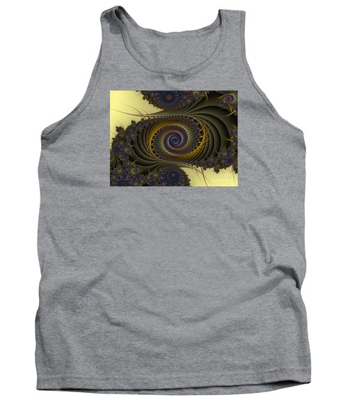 Tank Top featuring the digital art Peacock by Karin Kuhlmann