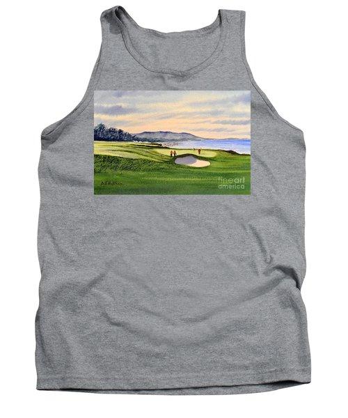Pebble Beach Golf Course Tank Top by Bill Holkham