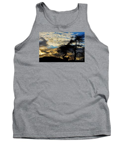 Pebbles Beach Pine Tree Tank Top by Elaine Hunter