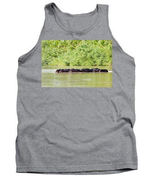 Peccaries Crossing River Tank Top