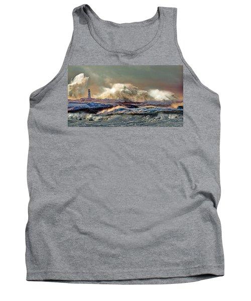 Peggy's Cove Winter Storm - Nova Scotia Tank Top