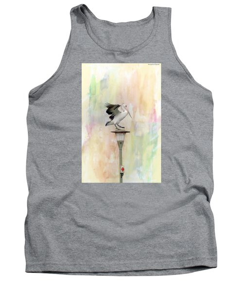 Tank Top featuring the photograph Pelican Beauty 000004 by Kevin Chippindall