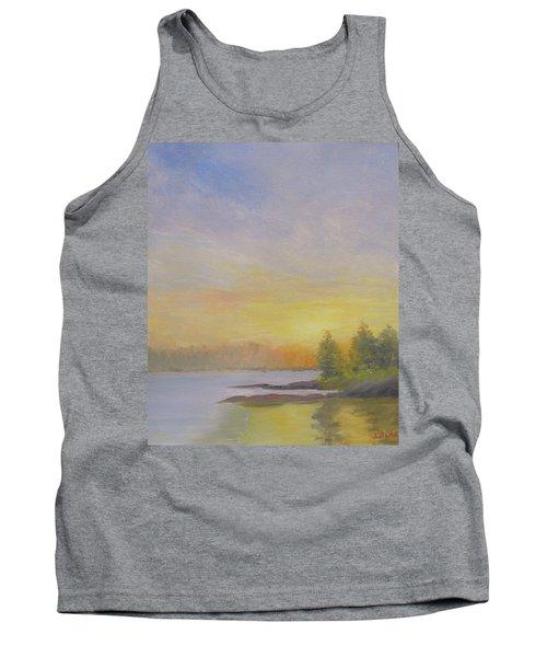 Pemaquid Beach Sunset Tank Top