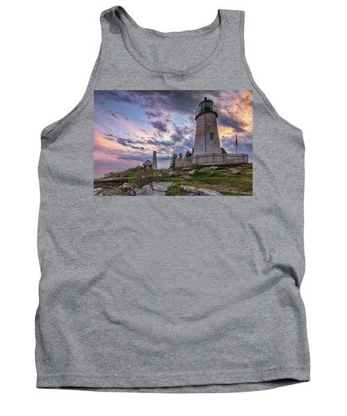 Pemaquid Point Lighthouse At Sundown Tank Top