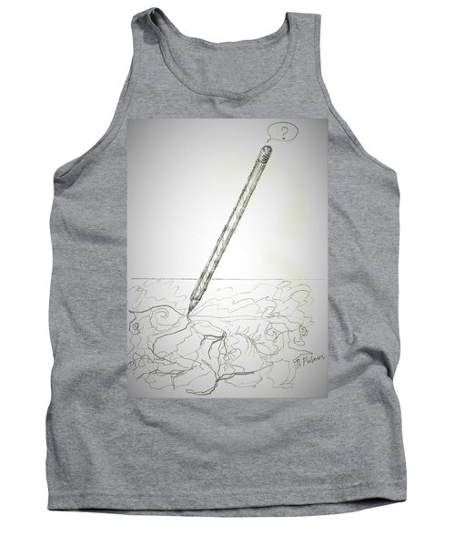 Tank Top featuring the drawing Pencil Drawing by Denise Fulmer