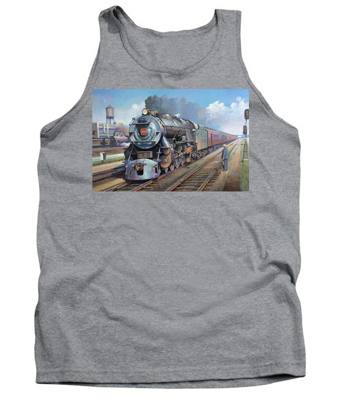 Tank Top featuring the painting Penn Central Pacific. by Mike Jeffries