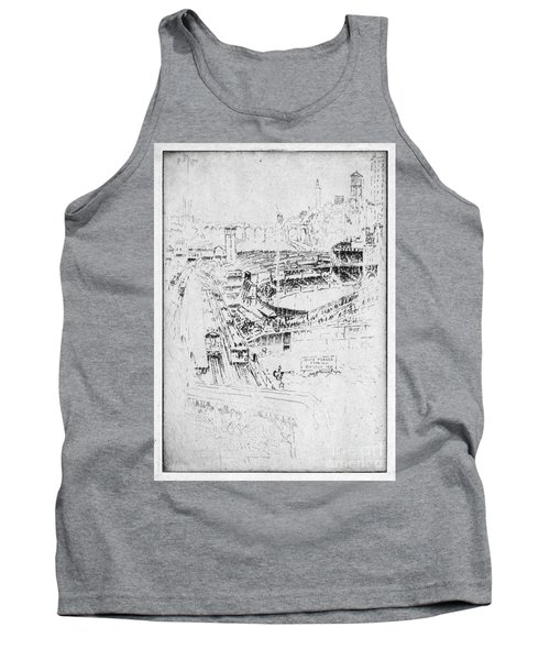 Tank Top featuring the drawing Pennell Polo Grounds 1921 by Granger