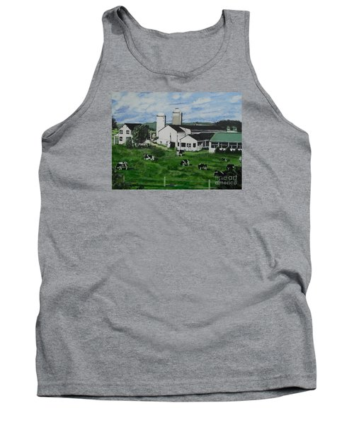 Pennsylvania Holstein Dairy Farm  Tank Top by Francine Heykoop