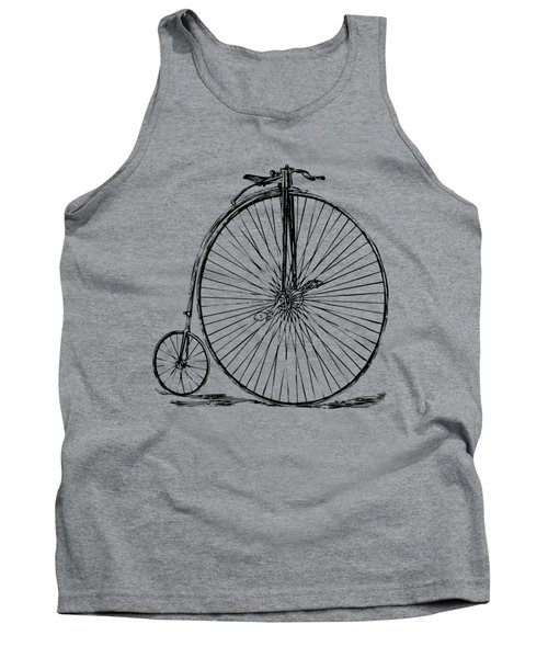 Penny-farthing 1867 High Wheeler Bicycle Vintage Tank Top by Nikki Marie Smith