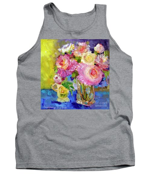Peony Love Tank Top by Rosemary Aubut