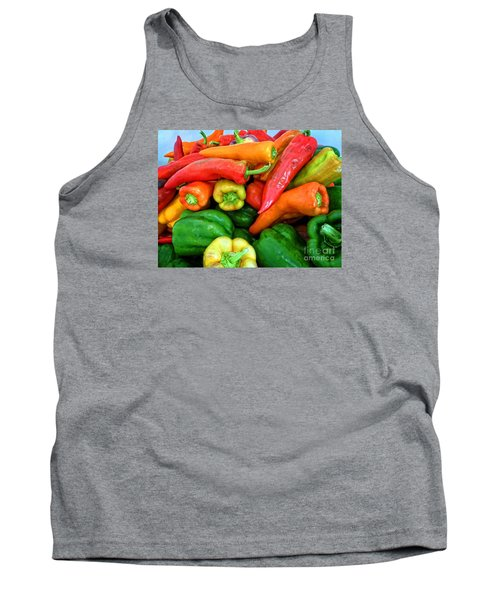 Pepper Medley 1 Tank Top by Dee Flouton