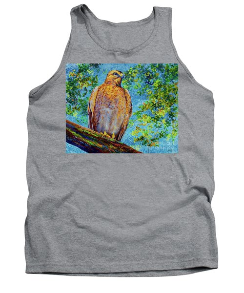 Perched Hawk Tank Top