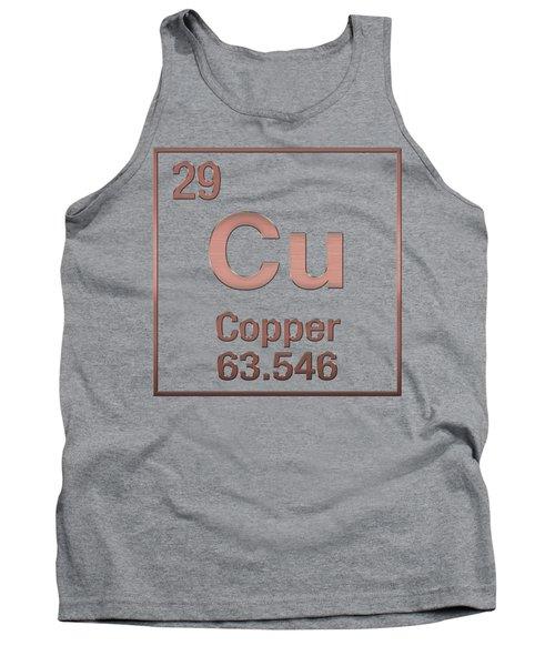 Periodic Table Of Elements - Copper - Cu - Copper On Copper Tank Top