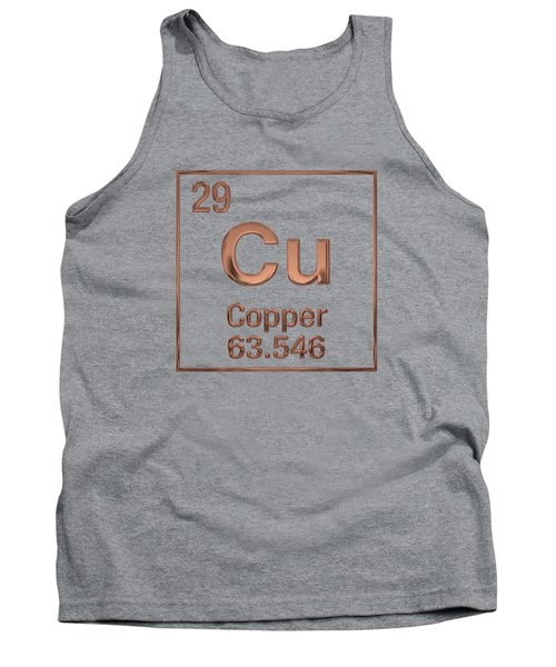 Periodic Table Of Elements - Copper - Cu Tank Top