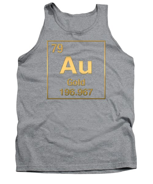 Periodic Table Of Elements - Gold - Au - Gold On Gold Tank Top