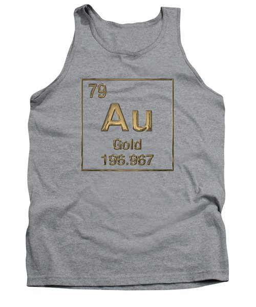Periodic Table Of Elements - Gold - Au Tank Top