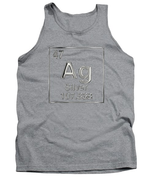 Periodic Table Of Elements - Silver - Ag Tank Top