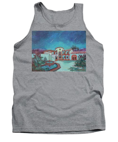 Tank Top featuring the painting Perseids Meteor Shower From La Quinta Museum by Diane McClary