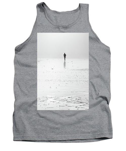 Person Running On Beach Tank Top
