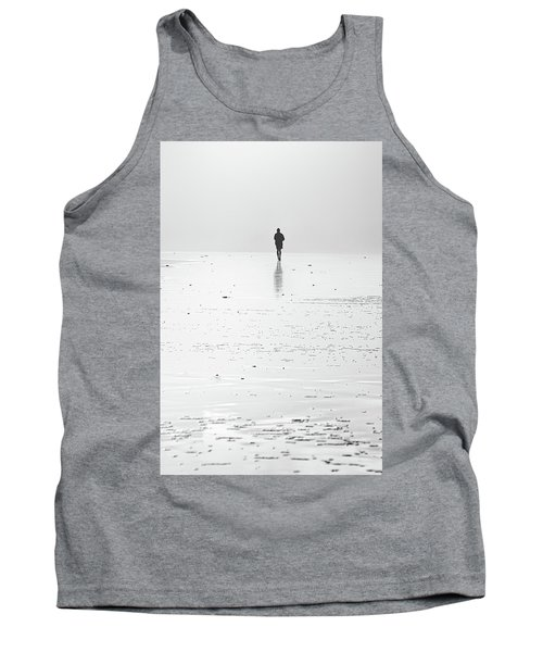 Person Running On Beach Tank Top