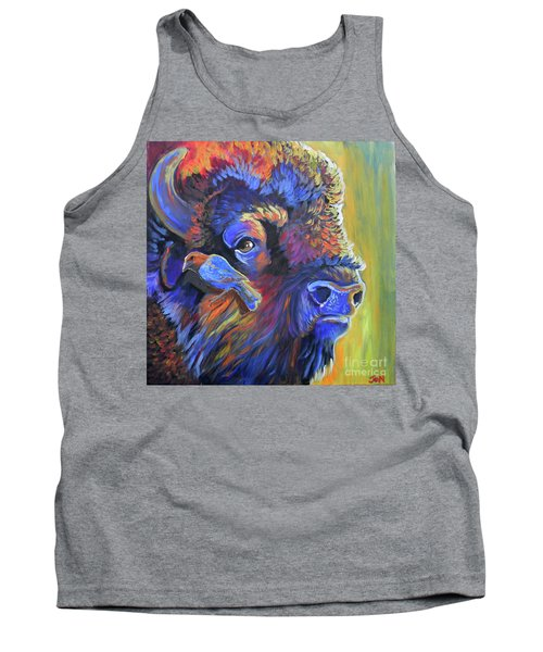 Tank Top featuring the painting Pesky Cowbird by Jenn Cunningham