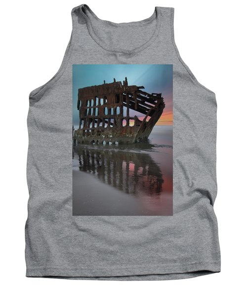Peter Iredale Shipwreck At Sunrise Tank Top