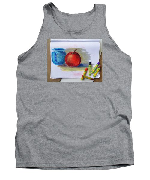 Tank Top featuring the drawing Petit Exercice En Pastel L'huile by Ginny Schmidt