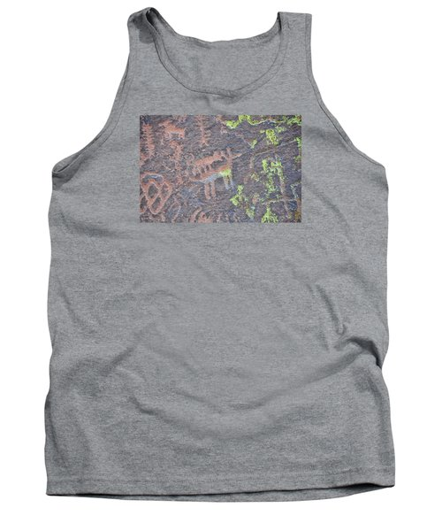 Petroglyph Wolf Attack Tank Top