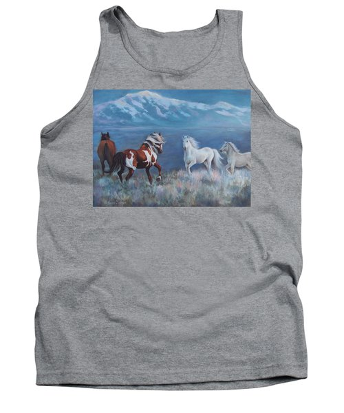 Tank Top featuring the painting Phantom Of The Mountains by Karen Chatham