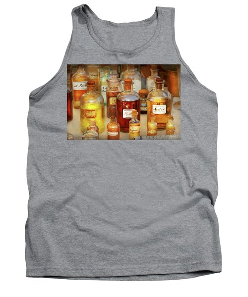 Pharmacy - Serums And Elixirs Tank Top by Mike Savad