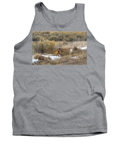 Tank Top featuring the photograph Pheasant Glory by Yeates Photography