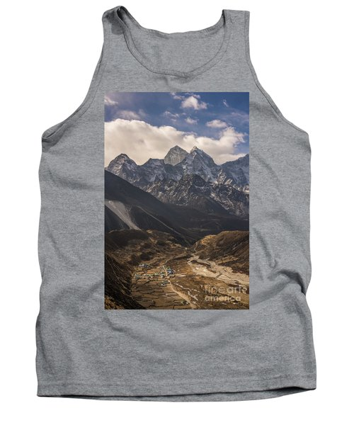 Tank Top featuring the photograph Pheriche In The Valley by Mike Reid