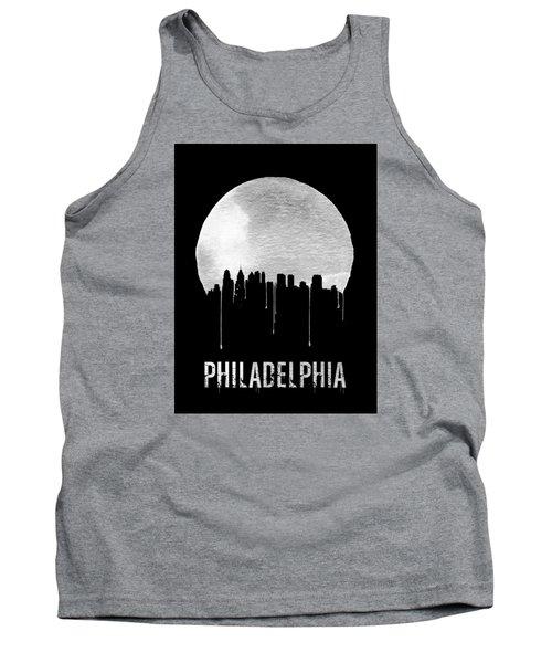 Philadelphia Skyline Black Tank Top by Naxart Studio
