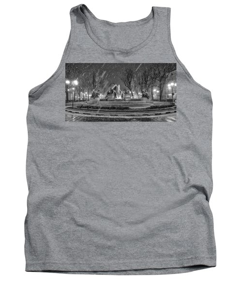 Tank Top featuring the photograph Piazza Solferino In Winter-1 by Sonny Marcyan