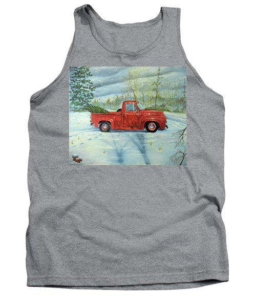 Picking Up The Christmas Tree Tank Top