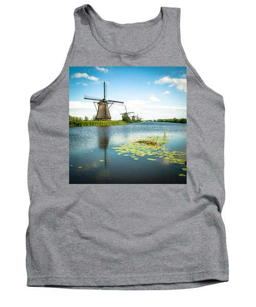 Tank Top featuring the photograph Picturesque Kinderdijk by Hannes Cmarits
