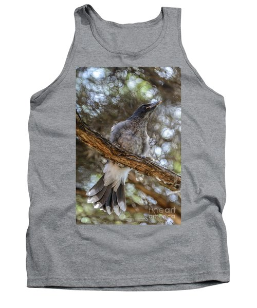 Pied Currawong Chick 1 Tank Top