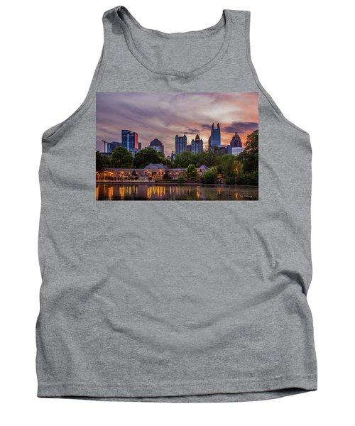 Tank Top featuring the photograph Piedmont Park Midtown Atlanta Sunset Art by Reid Callaway