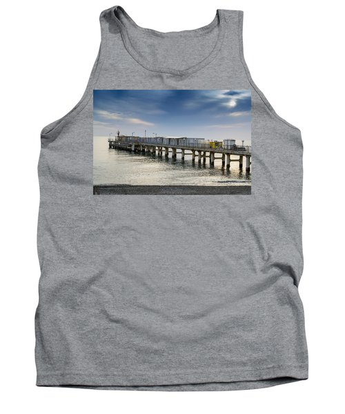 Tank Top featuring the photograph Pier At Sunset by John Williams