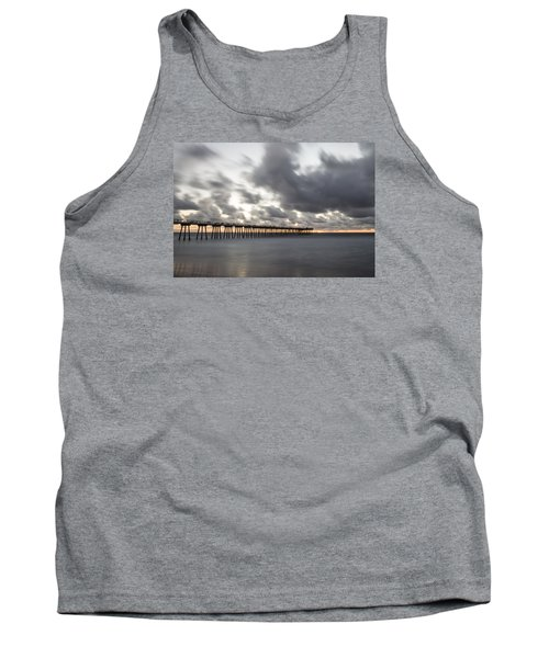 Pier In Misty Waters Tank Top
