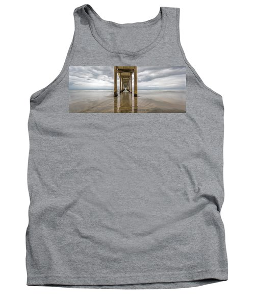 Tank Top featuring the photograph Pier Review by Dustin  LeFevre