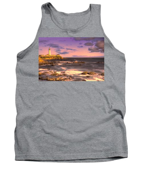 Pigeon Point Lighthouse At Sunset Tank Top