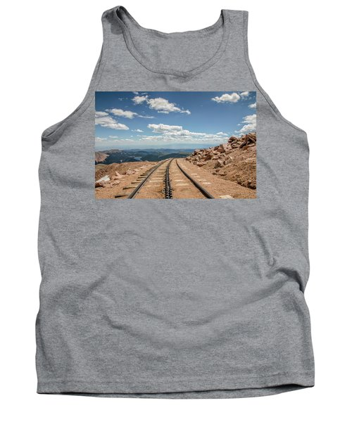 Tank Top featuring the photograph Pikes Peak Cog Railway Track At 14,110 Feet by Peter Ciro